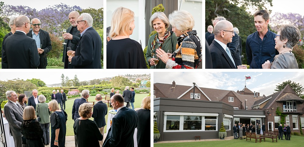 Cocktail party at the Royal Sydney Golf Club at Rose Bay