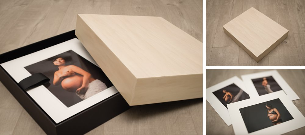 Portrait box of maternity session in Sydney