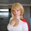 Ardella dressed as Power Girl at Sydney Olympic Park