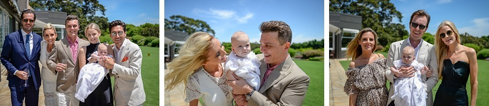 Family at Baby Alfred's Christening Reception at Royal Sydney Golf Club