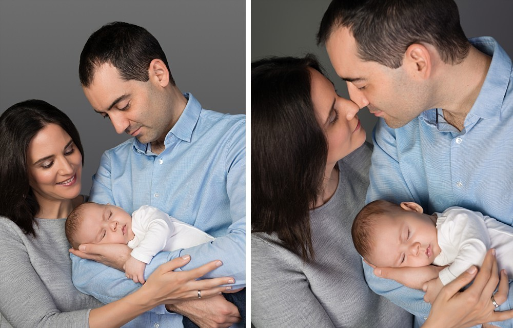 Spanish parents and a 2 month old baby boy in Sydney studio photography session