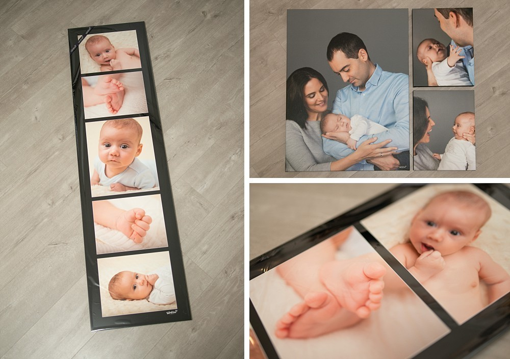 Artwork of parents and a 2 month old baby boy in Sydney studio photography session