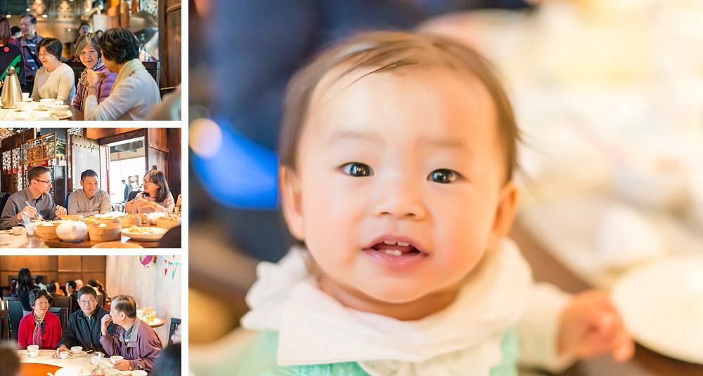 1 year old girl at birthday party at He Tai Yum Cha Macquarie Park