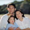 Family at Wattamolla beach with four year old girl