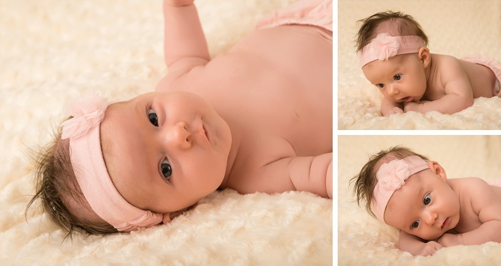 Baby girl with pink headband in Sydney Coogee studio photography session
