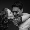 Pregnant couple in Sydney studio
