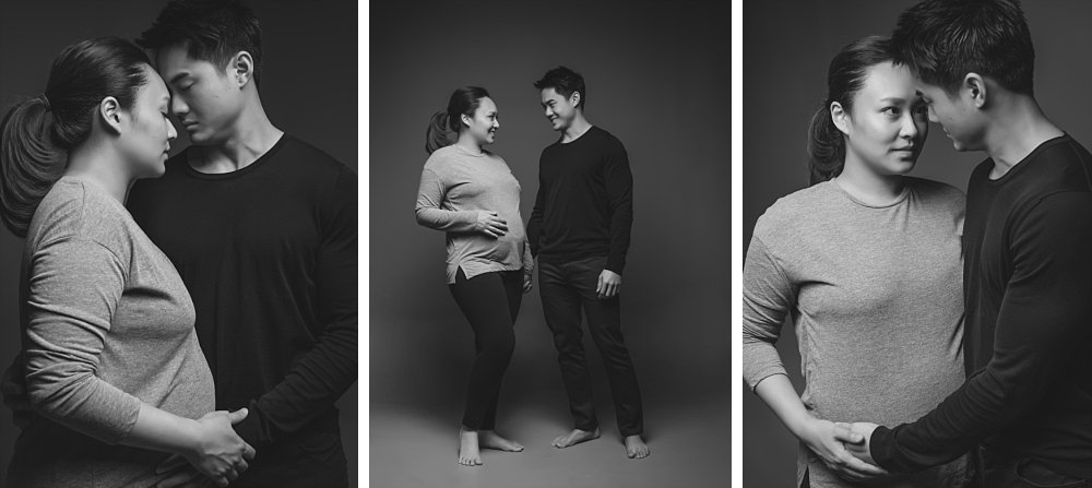 Asian couple in casual maternity session in Eastern Suburbs Sydney