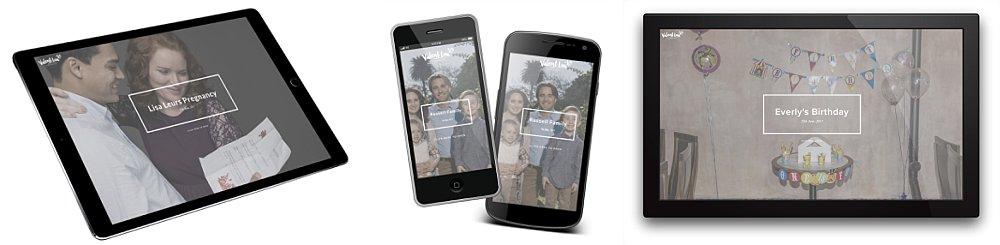 Sample custom phone and tablet app for Sydney family photography