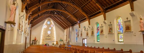Inside Our Lady Star of the Sea church in Watson's Bay
