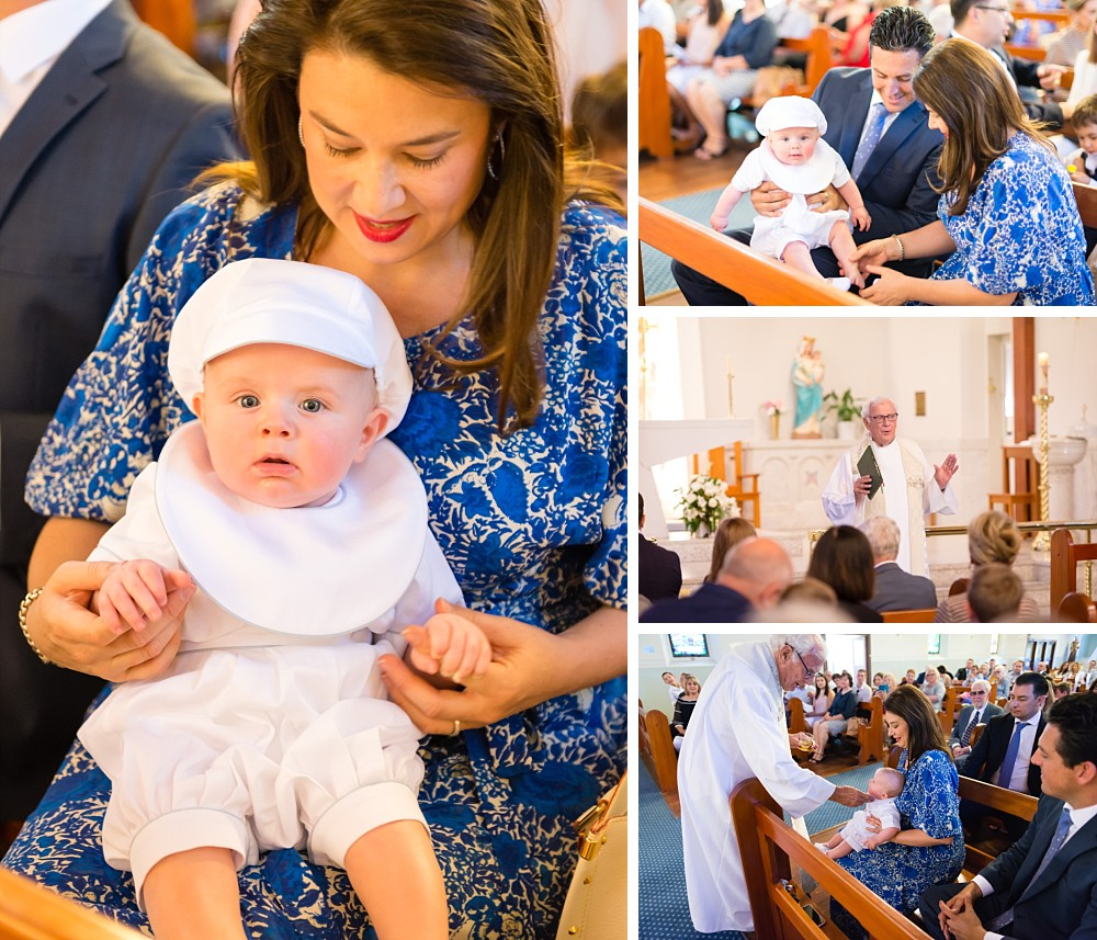 Baby Christening with Monsignor Tony Doherty in Our Lady Star of the Sea church in Watson's Bay