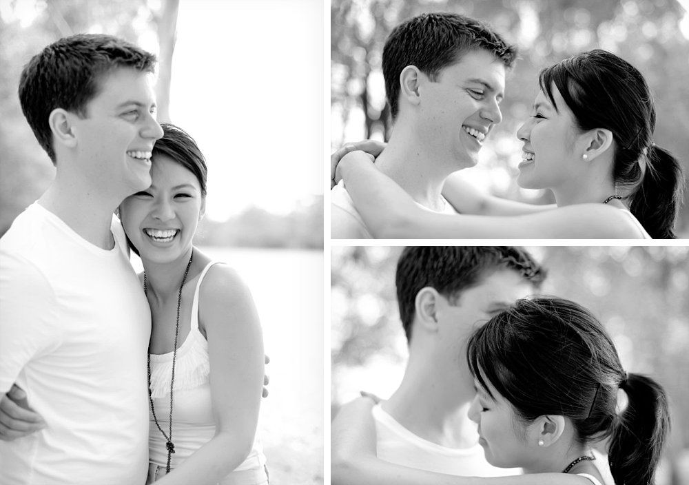 Casual couple with arms around each other in Sydney Photography Session