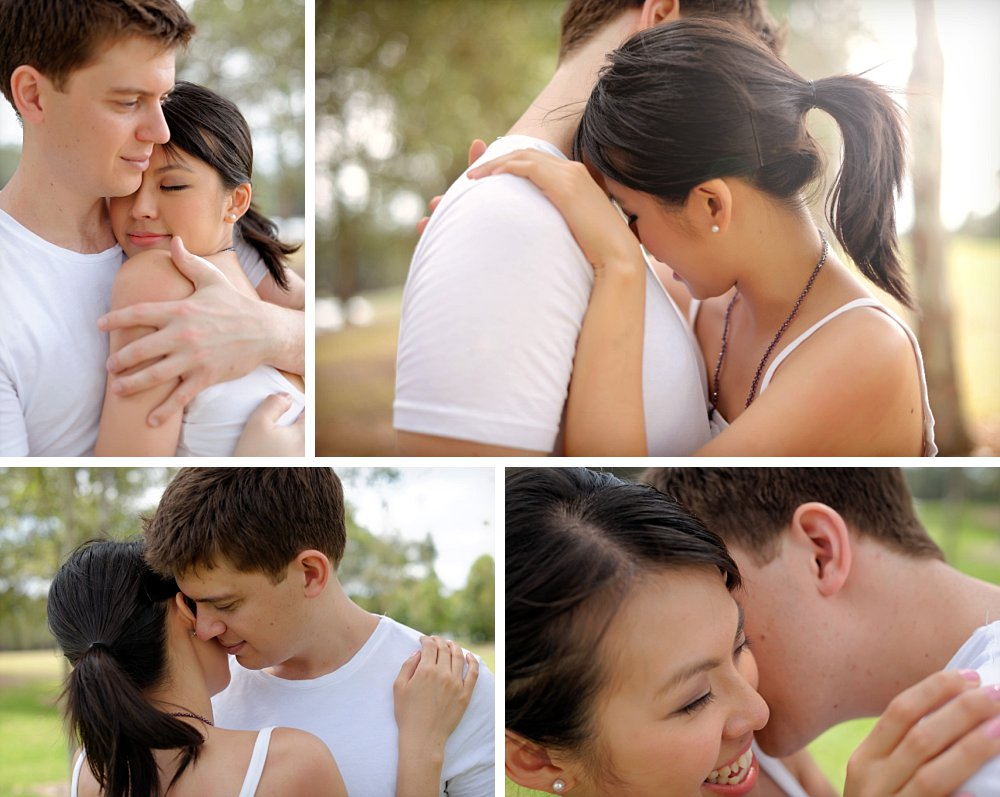 Romantic couple hugging and cuddling in Sydney Photography Session